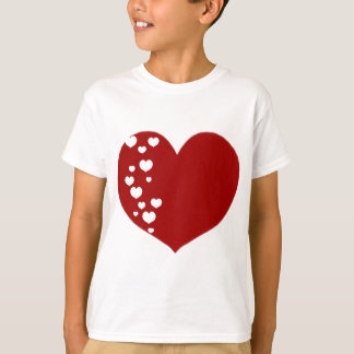 Heart Tracks Red Clear T-Shirt
