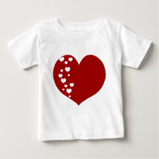 Heart Tracks Red White Baby T-Shirt
