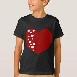 Heart Tracks Red White T-Shirt