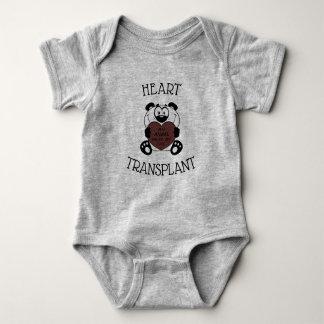 Heart Transplant Panda Baby Bodysuit