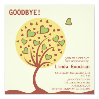 Heart Tree - Farewell Party Invitation