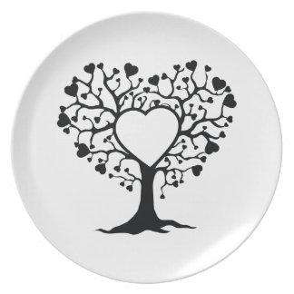 Heart Tree Dinner Plates