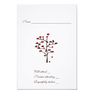 Heart Tree rsvp with envelope Card