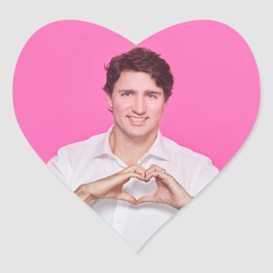 Heart Trudeau Stricker Heart Sticker