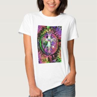 Heart Tye Dye Cross T Shirt