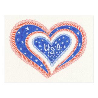 Heart U.S.A Postcard