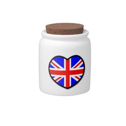 Heart United Kingdom Candy Jars