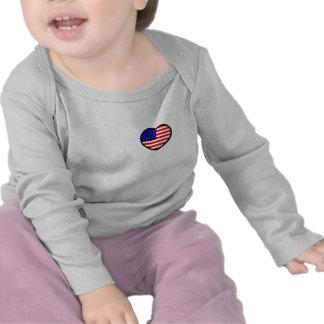 Heart USA Infant Long Sleeve Tees