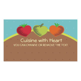 heart vegetables healthy dining gardening love ... pack of standard business cards