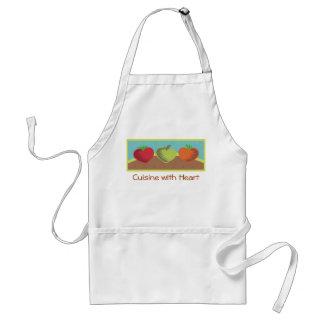 heart vegetables healthy dining gardening love ... standard apron