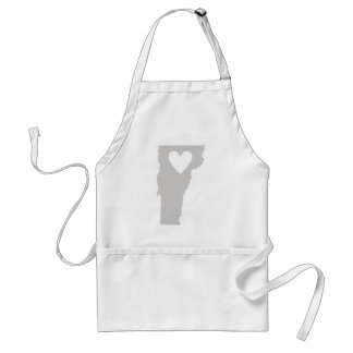 Heart Vermont state silhouette Apron