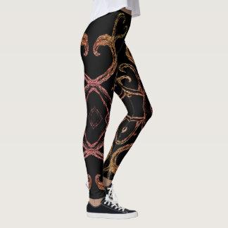Heart Vines Designer Leggings
