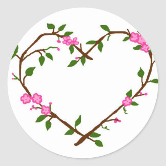 Heart vines stickers