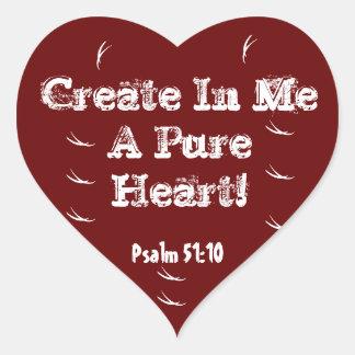 Heart warming heart sticker create in me verse!