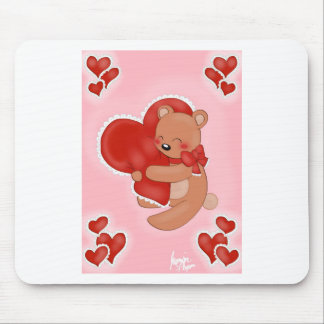 Heart Warming Teddybear Mouse Pad