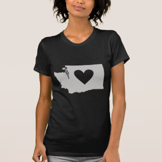 Heart Washington state silhouette T-Shirt