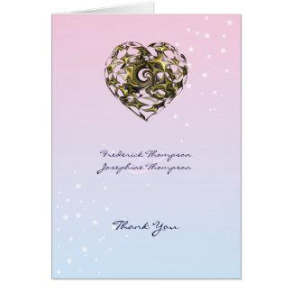 Heart Wedding Card