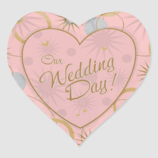 Heart Wedding Invitations Envelope Seals Heart Sticker