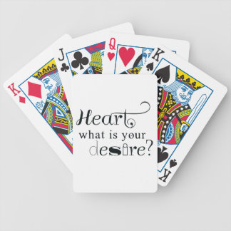 Heart, what is your desire? poker deck