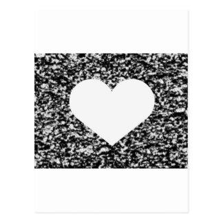 Heart White Black Postcard