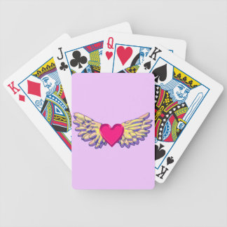 heart Wings Bicycle Playing Cards