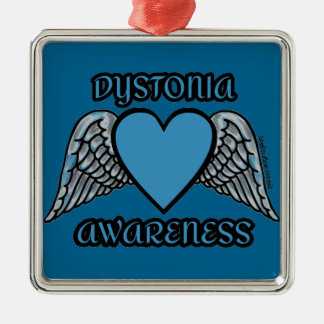 Heart/Wings...Dystonia Metal Ornament