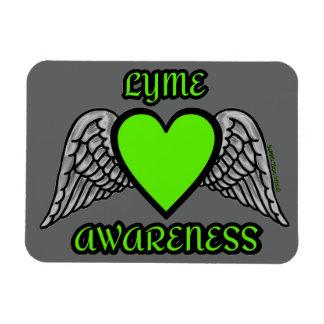 Heart/Wings...Lyme Magnet