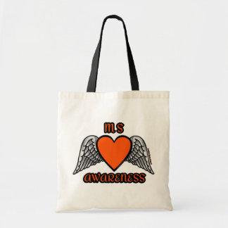 Heart/Wings...MS Tote Bag