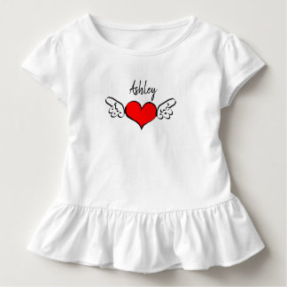 Heart Wings Valentine's Day Name Shirt Dress