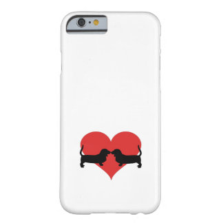 Heart with basset hounds barely there iPhone 6 case