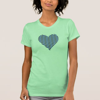 Heart with Blue Stripes T-shirts