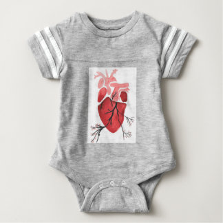 Heart With Branches Baby Bodysuit