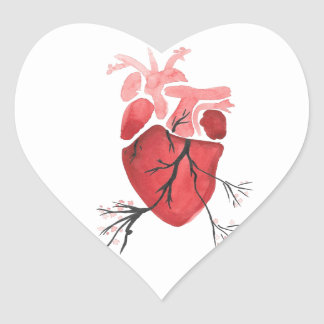 Heart With Branches Heart Sticker