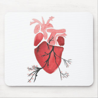 Heart With Branches Mouse Pad