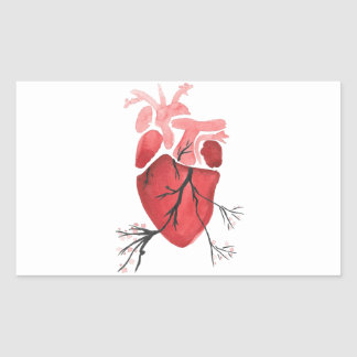 Heart With Branches Rectangular Sticker