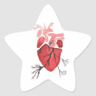 Heart With Branches Star Sticker