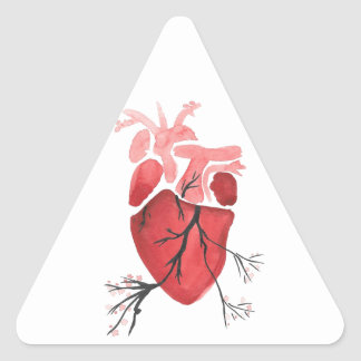 Heart With Branches Triangle Sticker