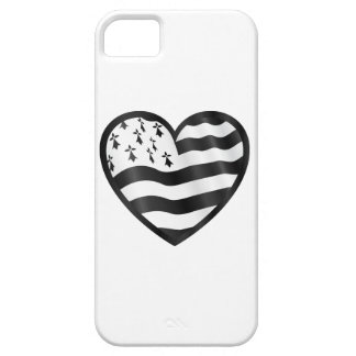 Heart with Bretin flag inside iPhone 5 Cover