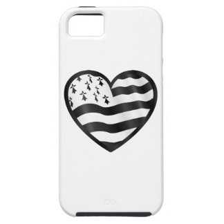 Heart with Bretin flag inside iPhone 5 Covers