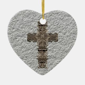 Heart With Cross Ornament