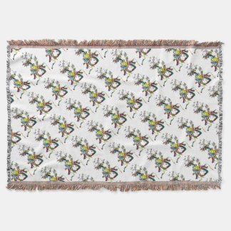 Heart with Flowers Abstract Gifts Throw Blanket