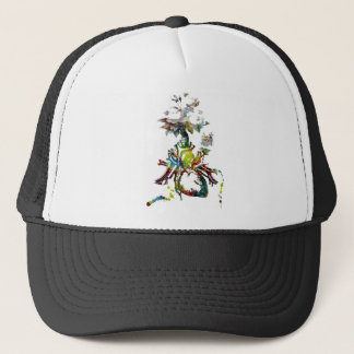 Heart with Flowers Abstract Gifts Trucker Hat