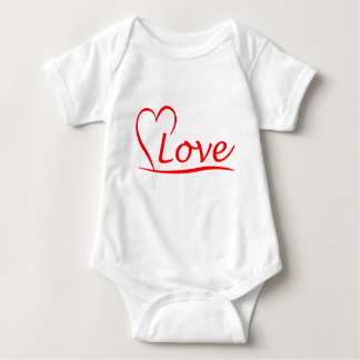 Heart with love baby bodysuit