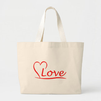 Heart with love large tote bag