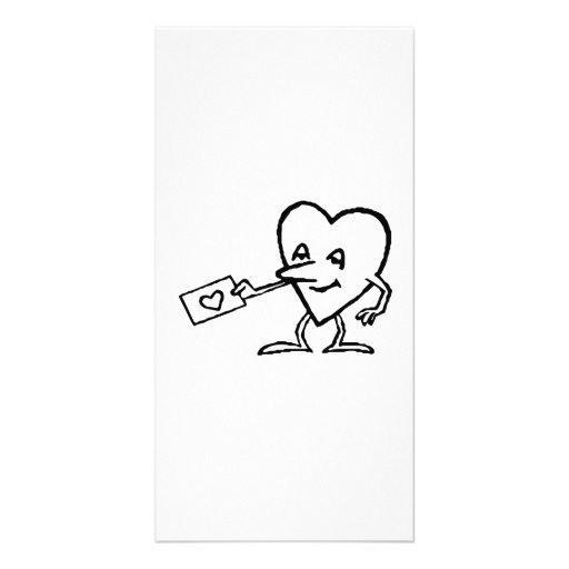 Heart with Love Letter Photo Card