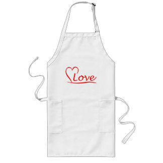 Heart with love long apron