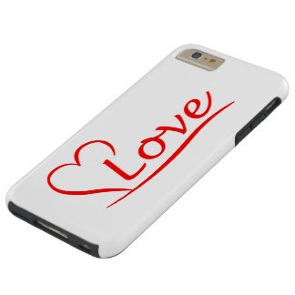 Heart with love tough iPhone 6 plus case