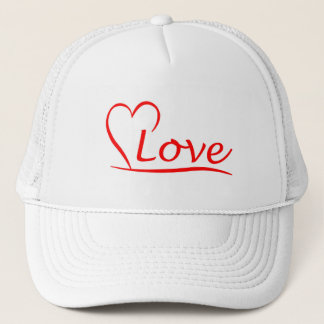Heart with love trucker hat