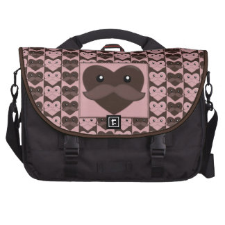 Heart With Moustache Commuter Bag