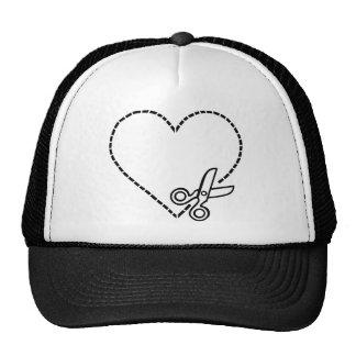 Heart with Scissors Cap